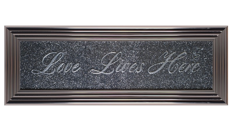 Love Lives Here Framed Print