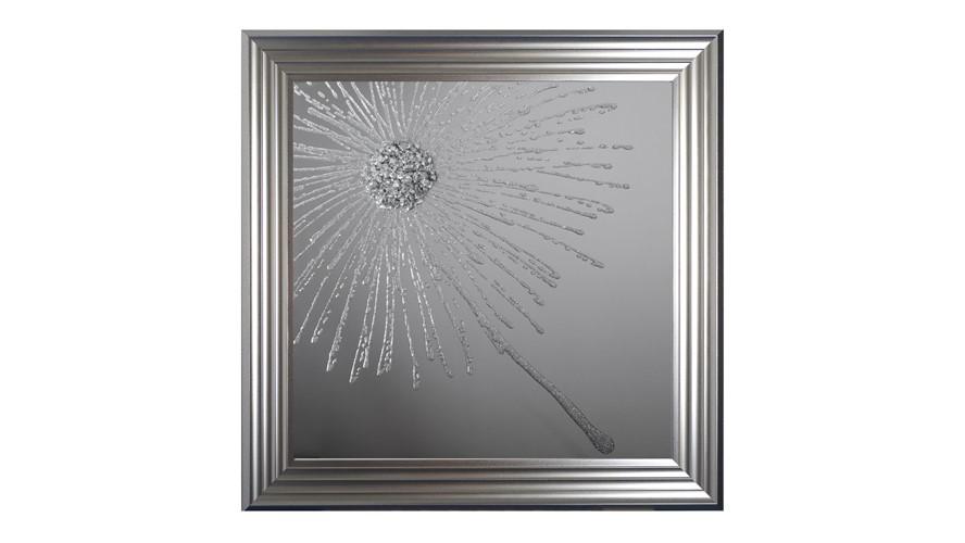 Dandelion Mirror I Framed Print