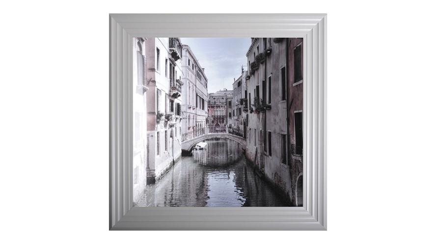 Venice I Grey Framed Print