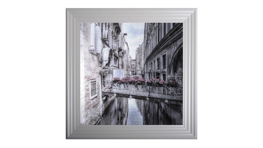 Venice II Grey Framed Print
