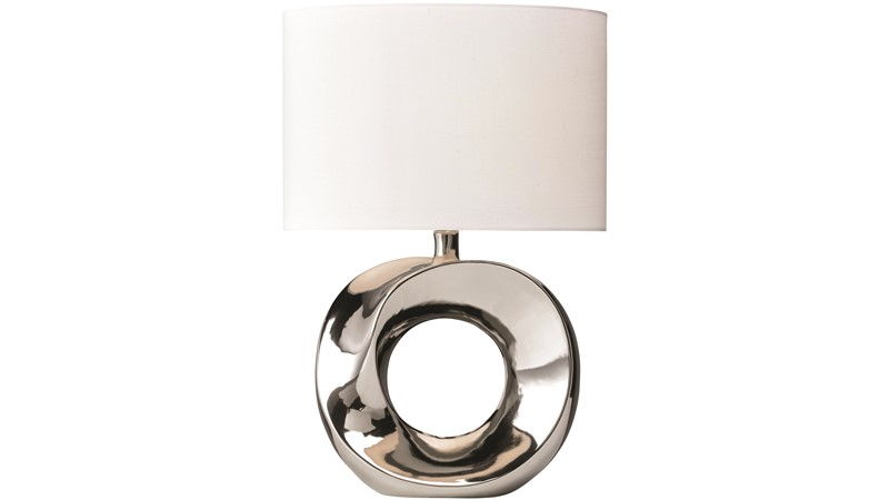 Hoop Table Lamp - Cream & White