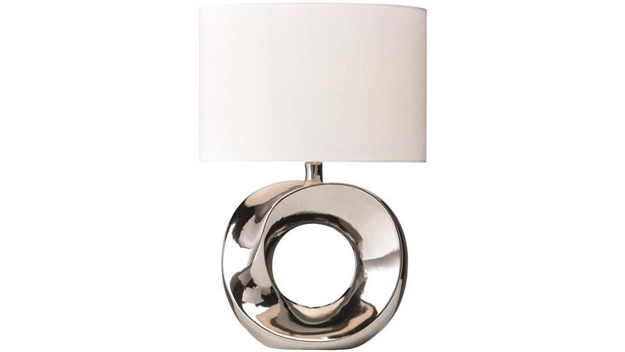 Hoop Table Lamp - Cream & White