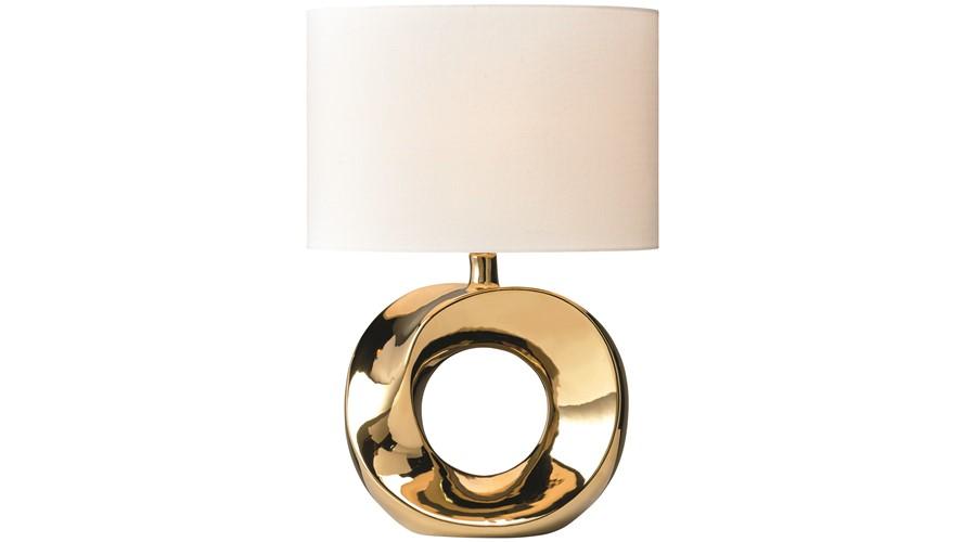 Hoop Table Lamp - Gold & Cream