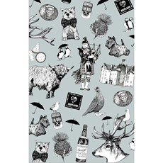 Gillian Kyle Love Scotland Tea Towel