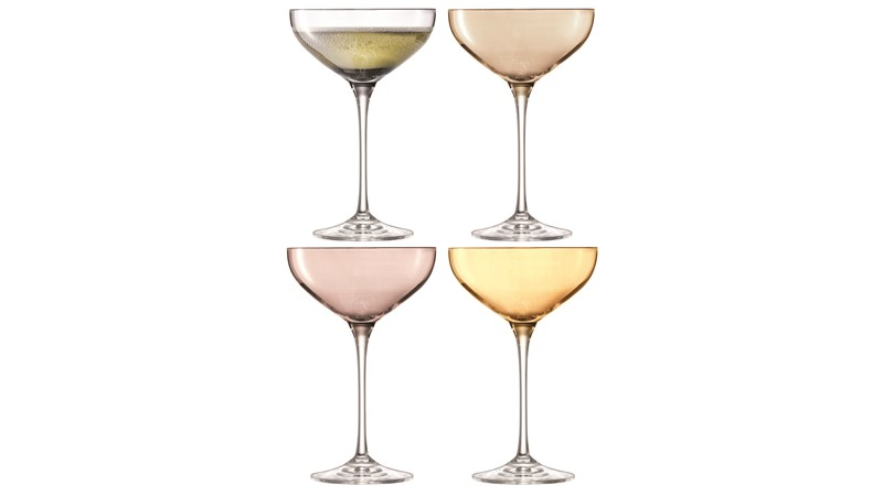 LSA Polka Champagne Saucers (Set of 4) - Metallic