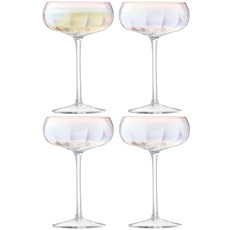 LSA Pearl Champagne Saucers (Set of 4)