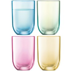 LSA Polka Vodka Glasses (Set of 4) - Pastel