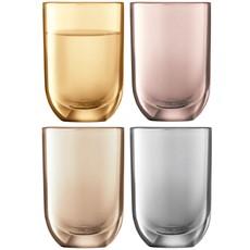 LSA Polka Vodka Glasses (Set of 4) - Metallic