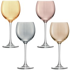 LSA Polka Wine Glasses (Set of 4) - Metallic