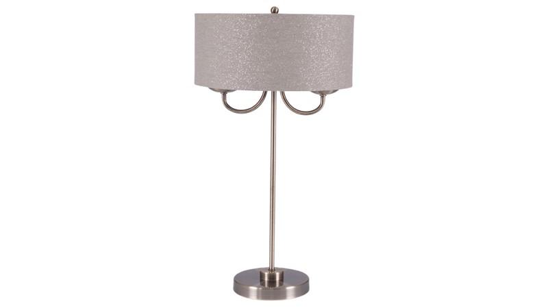 Antique Brass 2 Light Table Lamp
