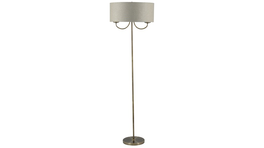 Antique Brass 2 Light Floor Lamp