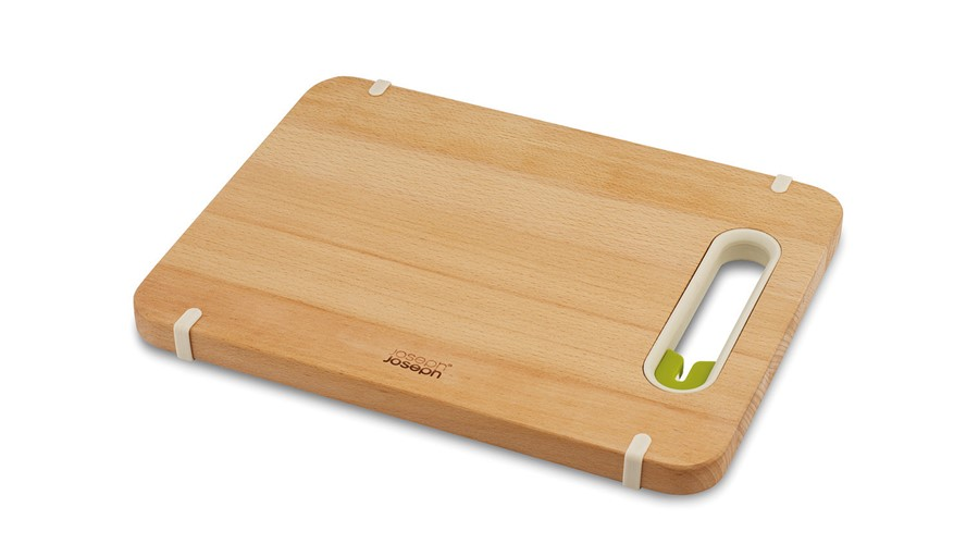 Joseph Joseph Slice & Sharpen Small Wooden Chopping Board