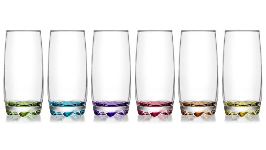 LAV Adora Coloured Long Drink Glass (Set of 6)