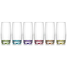 LAV Adora Coloured Long Drink Glass (Set of 6)