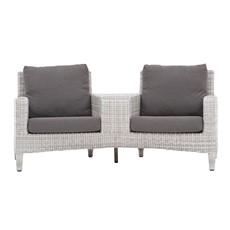 Lincoln Garden Love Seat - Grey