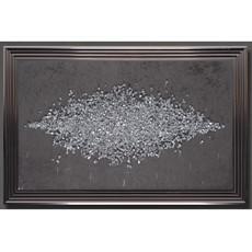 Cluster Swarovski & Velvet framed Print