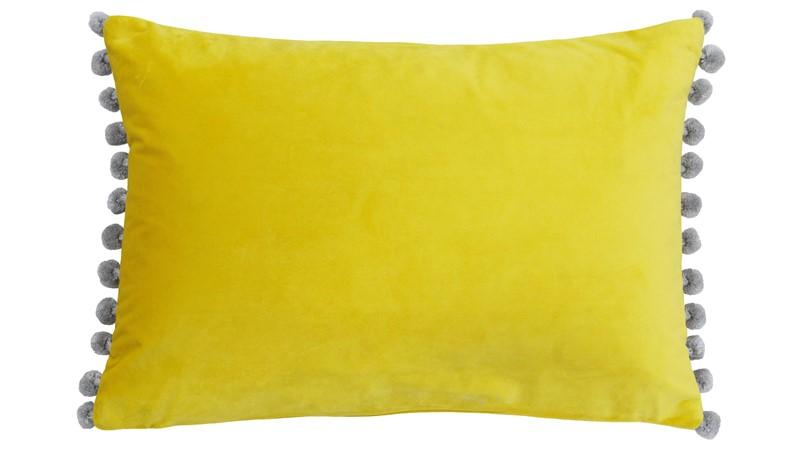 Fiesta Pom Pom Cushion - Mimosa