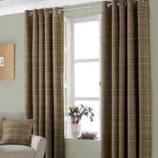 Aviemore Thistle Check Curtains