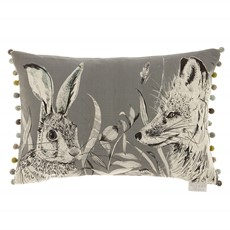 Voyage Hunt Rectangle Cushion - Charcoal