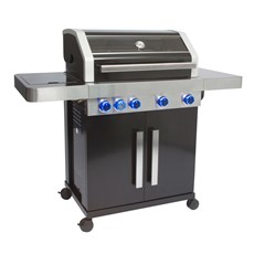 Leisuregrow Grillstream Gourmet 4 Burner BBQ - Black