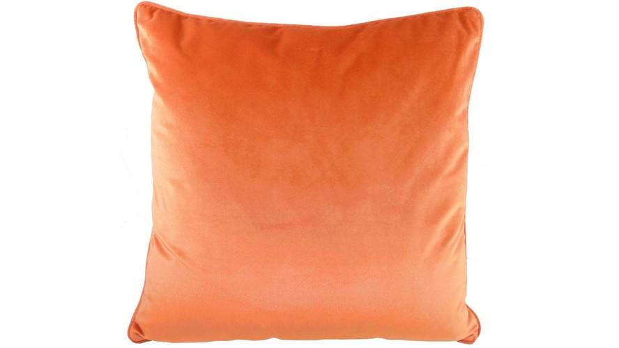 Royal Velvet Square Cushion - Pumpkin