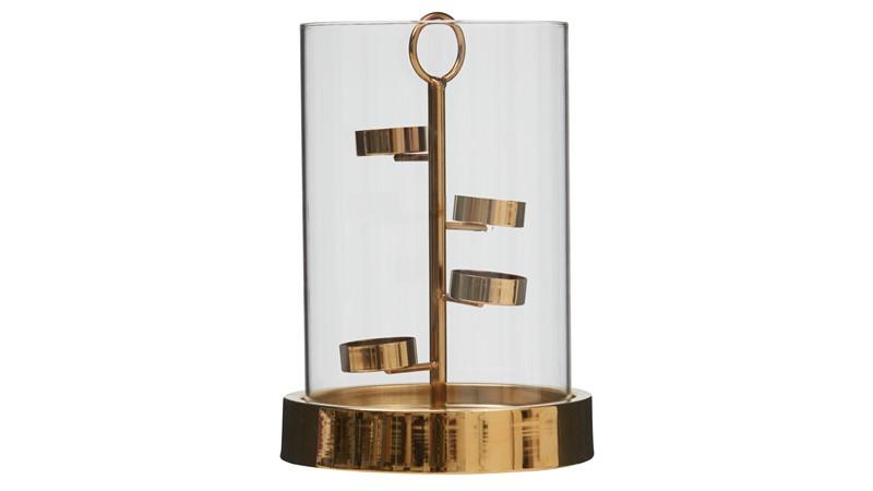 Spiral Gold Candle Holder