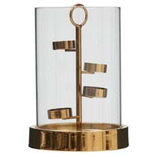 Spiral Gold Candle Holder