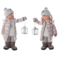 Winter Children Holding Lanterns - Assorted