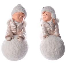 Winter Children With Snowballs - Assorted