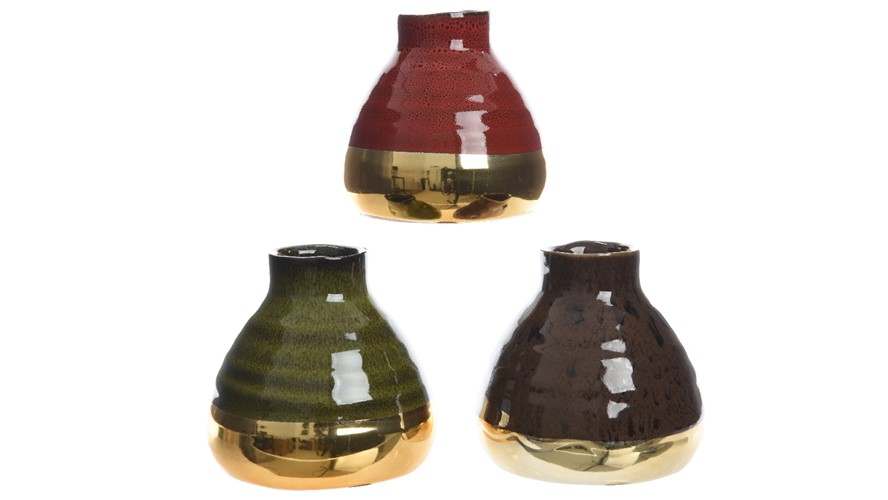 Stoneware Small Vase - Assorted