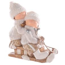 Winter Children On A Sleigh