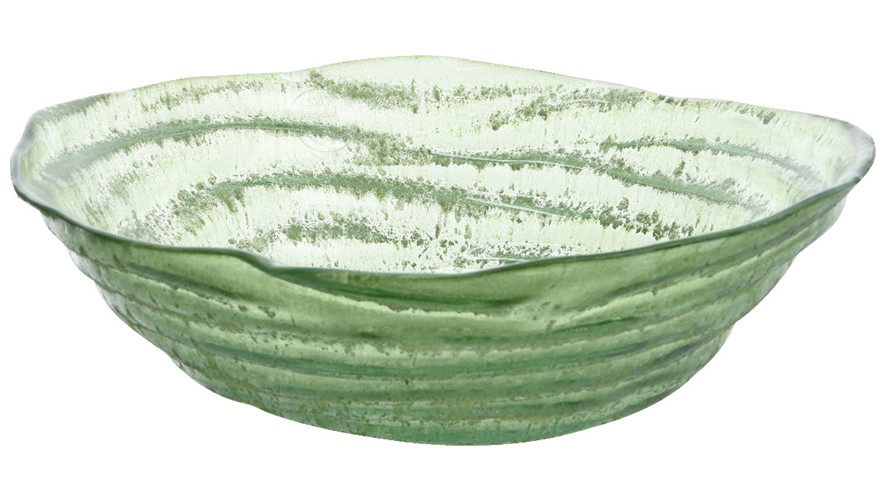 Organic Antique Green Recycled Glass Bowl