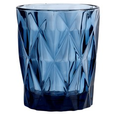 Diamond Tumbler Glass - Blue