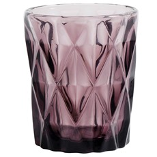 Diamond Tumbler Glass - Purple