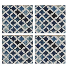 Naturals Resin Coasters (Set of 4) - Blue