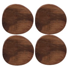 Naturals Wooden Coasters (Set of 4) - Natural