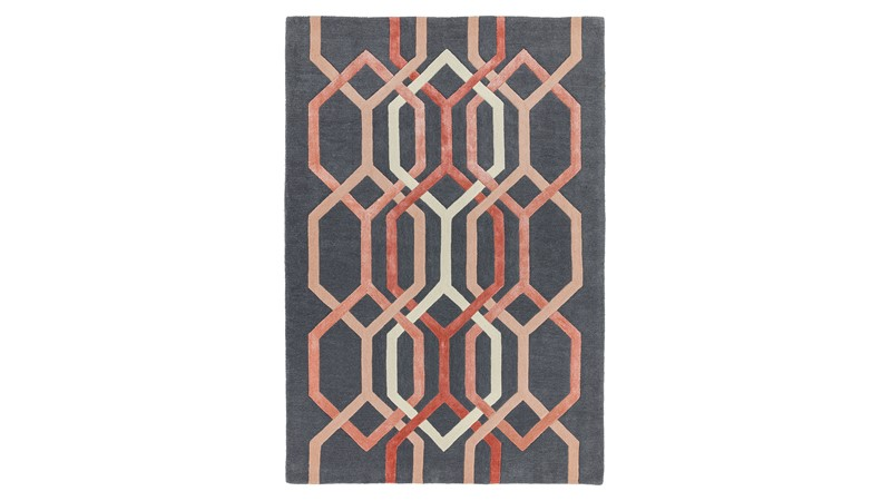 Matrix Rug - Hexagon Charcoal