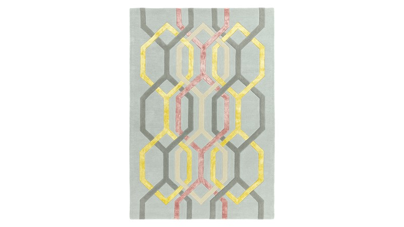 Matrix Rug - Hexagon Silver