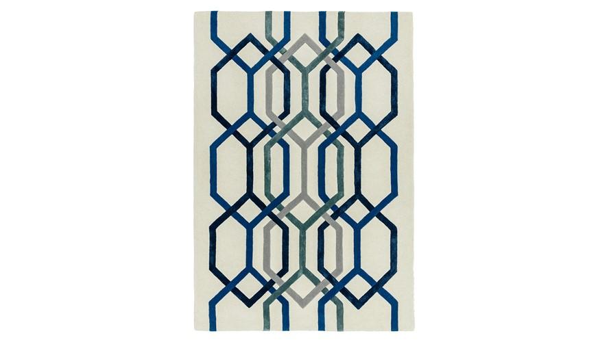 Matrix Rug - Hexagon White