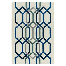 Matrix Rug - Hexagon White
