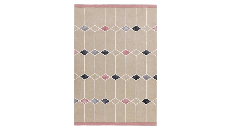 Matrix Rug - Jewel Pink