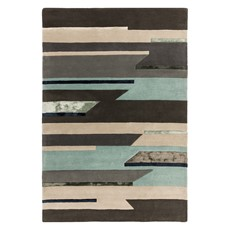 Matrix Rug - Rhombus Blue