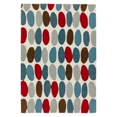 Matrix Rug - Sofia Red-Teal