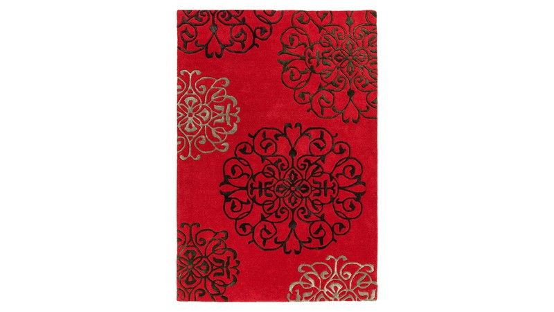 Matrix Rug - Tangier Red