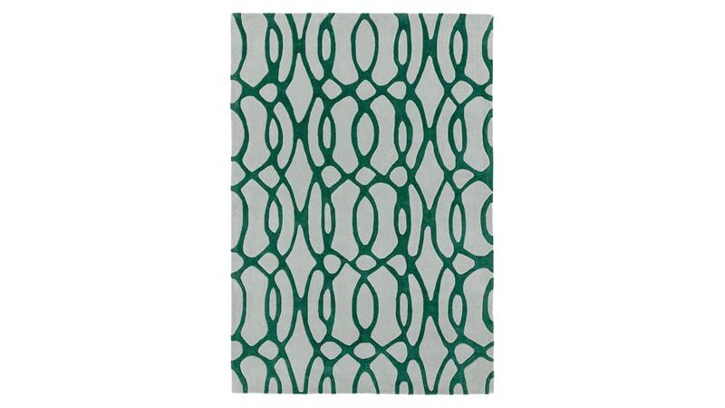Matrix Rug - Wire Green