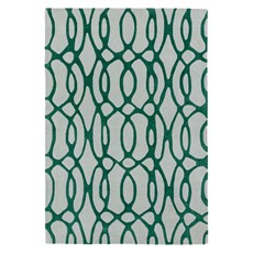 Matrix Rug - Wire Green
