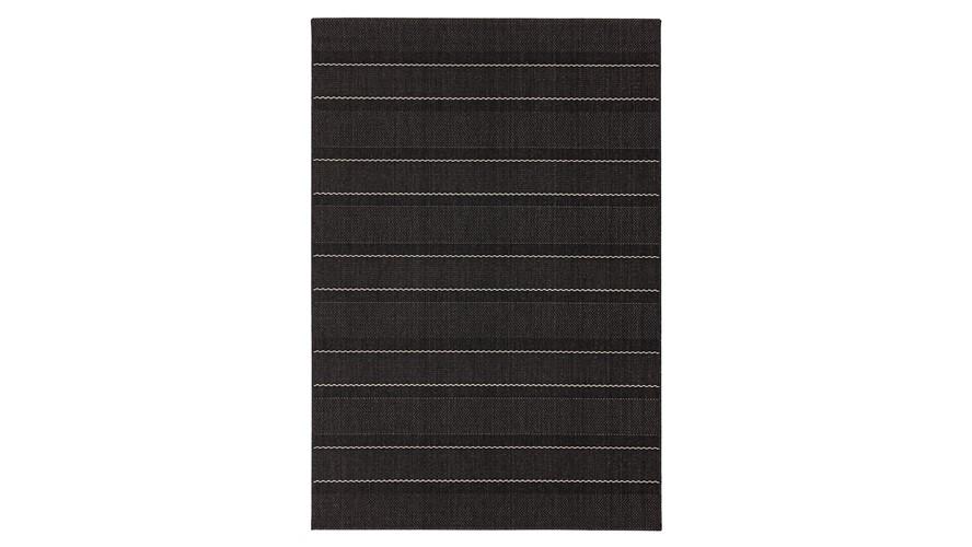 Patio Rug - Charcoal Stripe