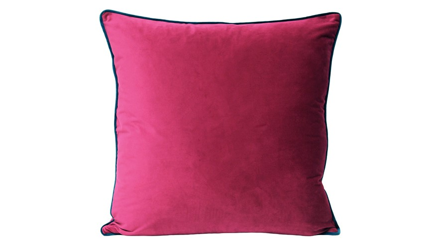 Meridian Cushion - Raspberry & Teal
