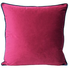 Meridian Cushion - Raspberry & Teal