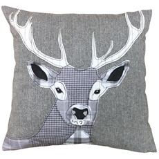 Dreams & Drapes Stag Filled Cushion Grey
